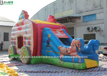 Rosa Dia Prinzessin-Carriage Inflatable Jumping Castle mit bleifreiem Material