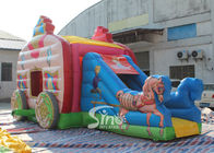 Dia Kinderrosa Prinzessin-Carriage Inflatable Bouncy Castle mit bleifreiem Material